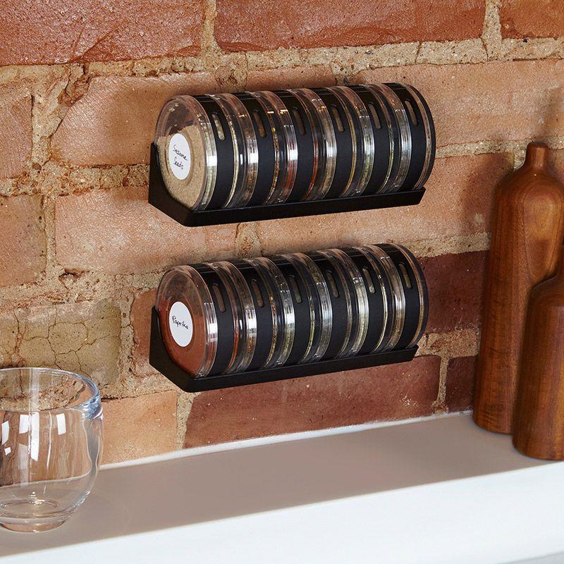 Buy Spice Rack Seasonings Set Of 6 Tray Kitchen Chef online