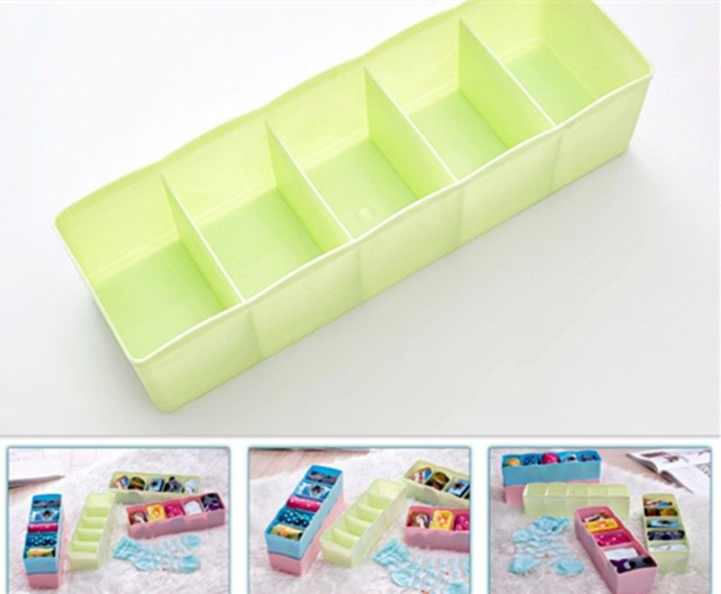 Buy Multi-function Desktop Drawer Storage Box Clothing Organizer Five Grid Storage Box Underwear Socks Bra Ties Organizer online