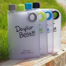 Buy Do Your Best Notebook Bottle Bpa Free-- Flat Portable Cup 380 Ml Water Bottle online