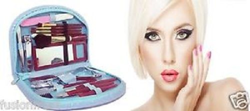 Buy 18 Pieces Compact Manicure Pedicure Travel Makeup Set Grooming Kit Stylish Purse online