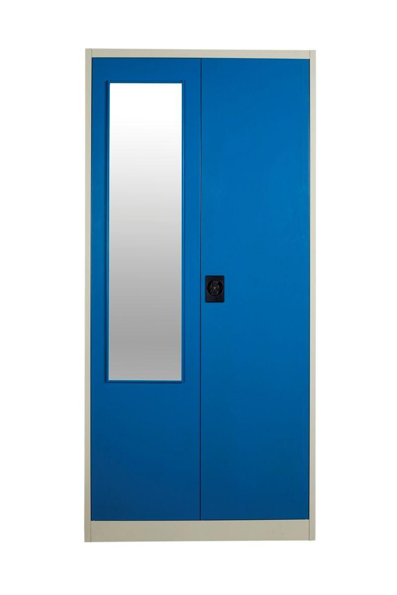 Buy Panajoy Two Door Wardrobe With Mirror- Blue online