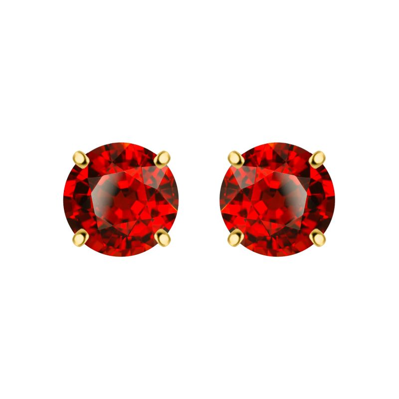 Buy Silver Dew 925 Sterling Pure Silver Garnet Fashion Earring For Ladies & Girls Sde051gar online