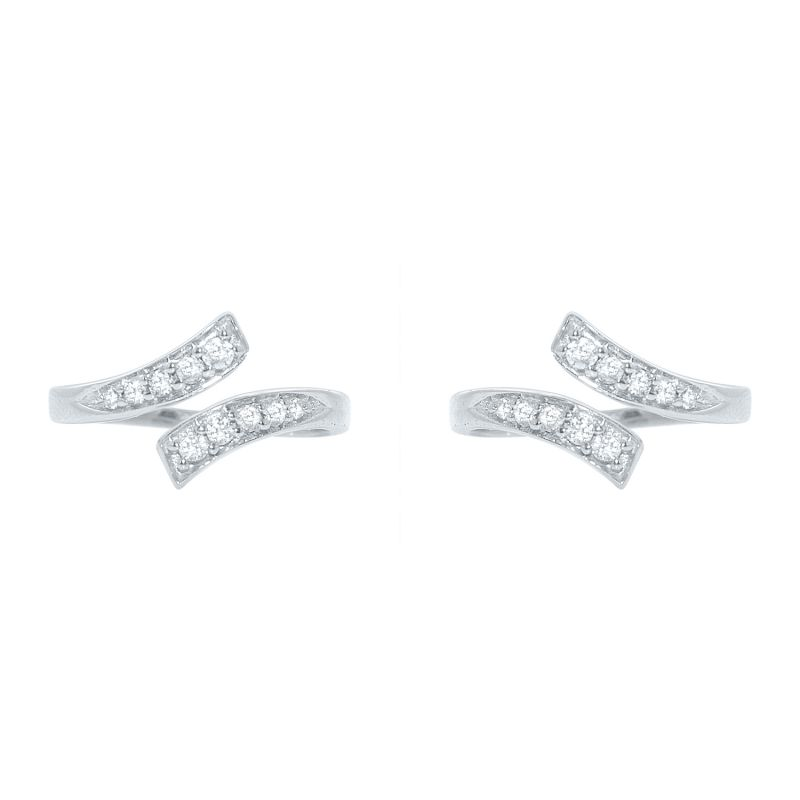 Buy Silver Dew 925 Pure Silver Fancy Toe Ring For Her Sdto002 online