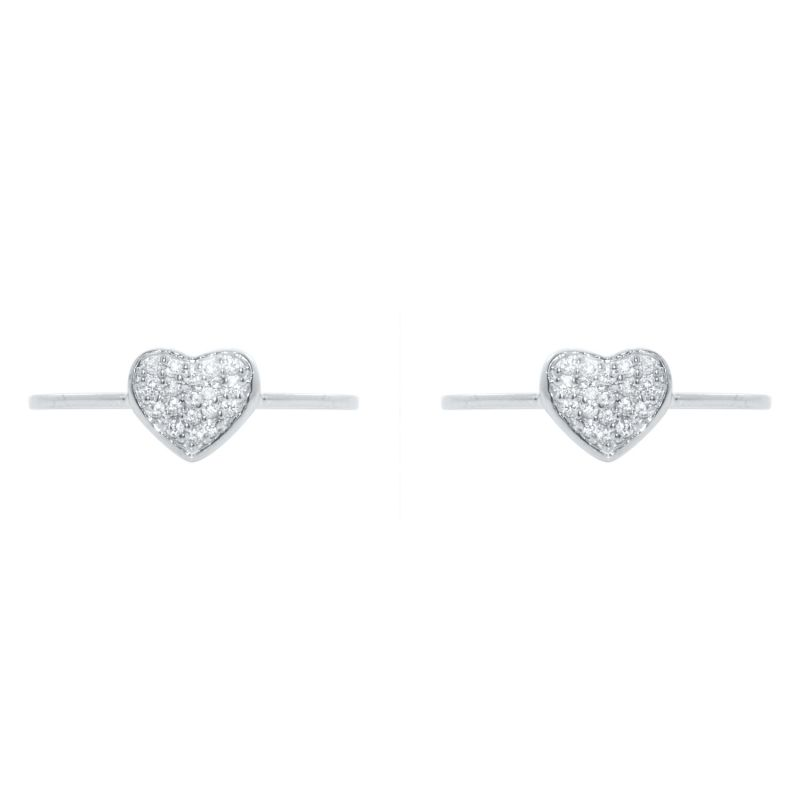 Buy Silver Dew 925 Pure Silver Heart Shape Pair Of Two Toe Ring In Rhodium Plated Sdto016 online