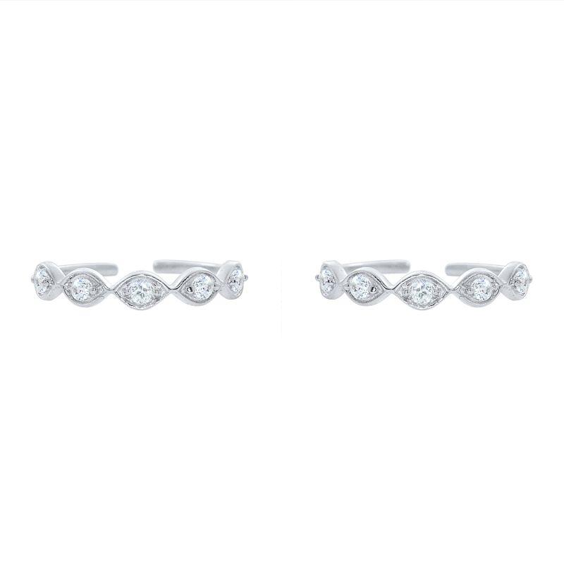 Buy Silver Dew 925 Pure Silver Adjustable Toe Ring Sdto018 online