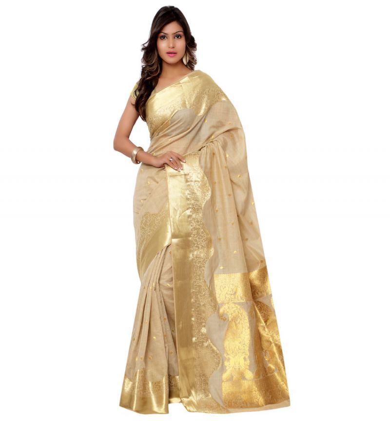 Buy Varkala Silk Sarees Woven Khadi Silk Exclusive Paisley Pallu Saree Mc1001 online