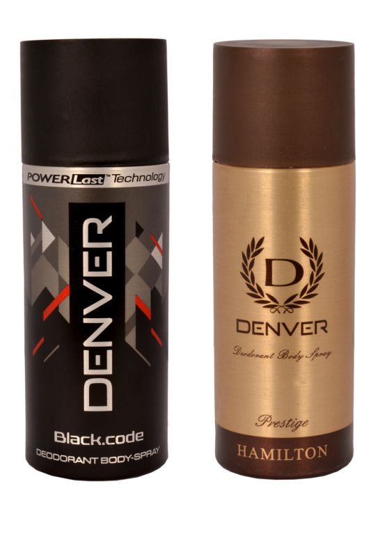 Buy Denver Black Code Hamilton Prestige Deodorant Body Spray ( Pack Of 2 ) - An124 online