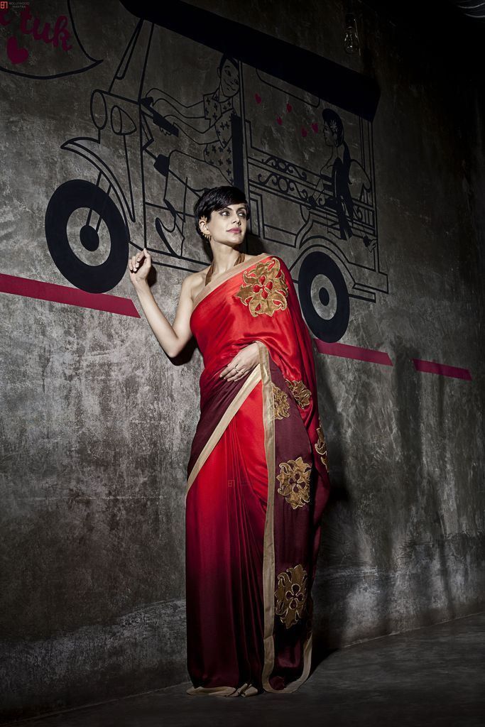 Buy Palash Fashion's Red Color Embroidered Fancy Designer Saree online