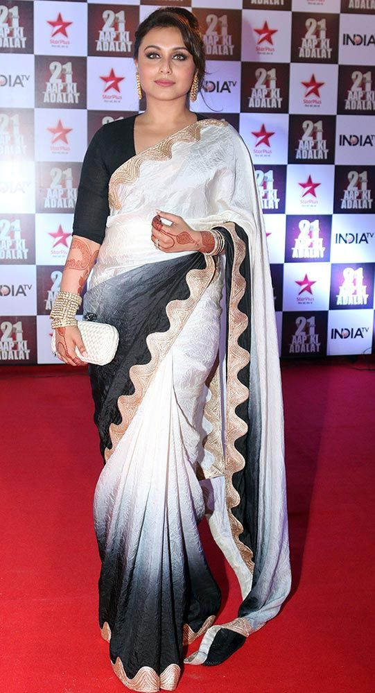 Buy Palash Fashion Bollywood Replica Royal Looking White Color Georgette Fancy Designer Saree online
