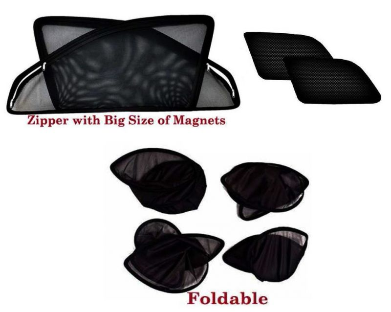 Buy Premium Quality Foldable, Zipper & Magnetic Car Sun Shades/ Curtain For Toyota Innova Crysta -set Of 6 online