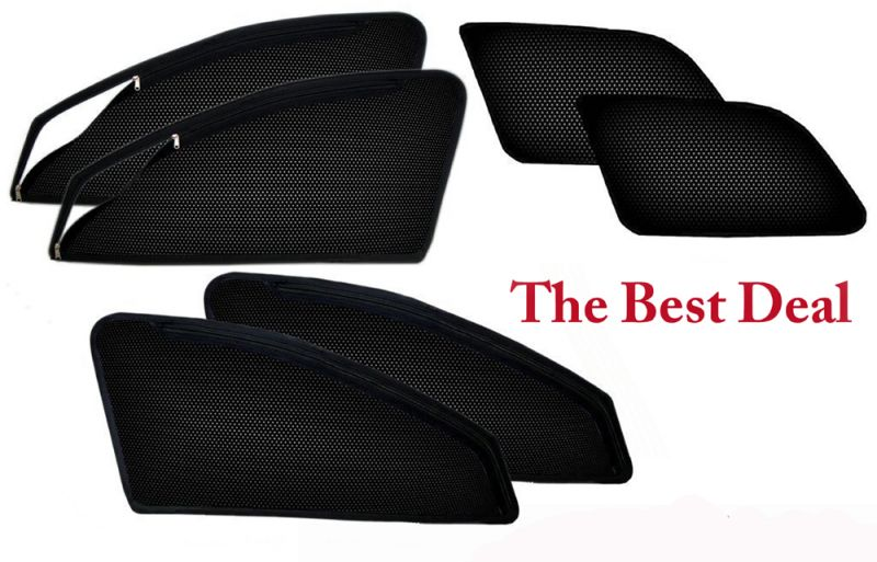 Buy The Best Deal In Zipper & Magnetic Car Sun Shades/ Curtain For Honda Mobilio -set Of 6 online
