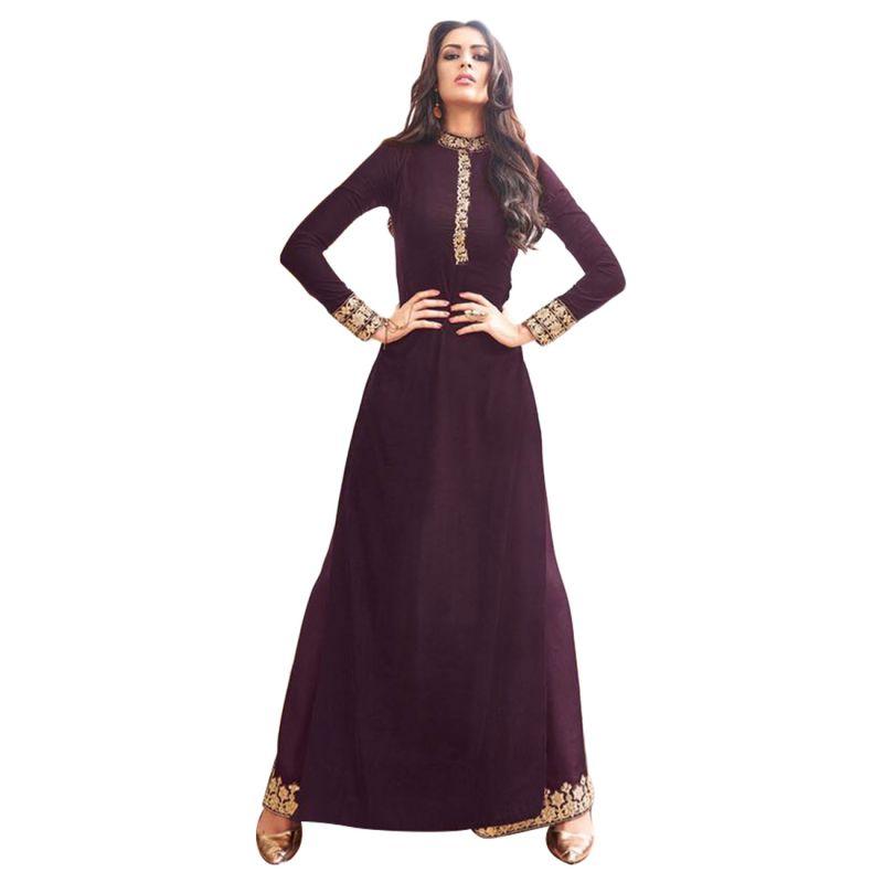 Buy Bollywood Replica Party Wear Graceful Brown Georgette And Net Partywear Anarkali Suit- 125f4f04dm online
