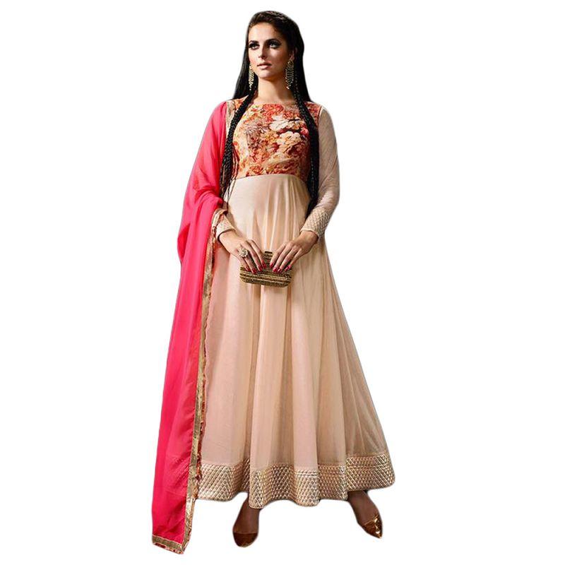 Buy Bollywood Replica Cream Long Lenght Anarkali Suit 126f4f06dm online