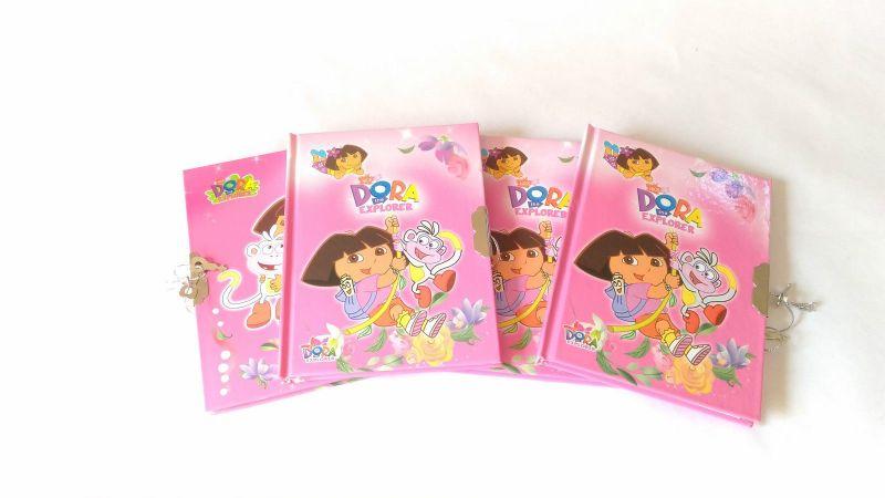 4 Pcs Dora Kids Secret Lock Diaries 2 Keys Birthday Return Gift Gr13