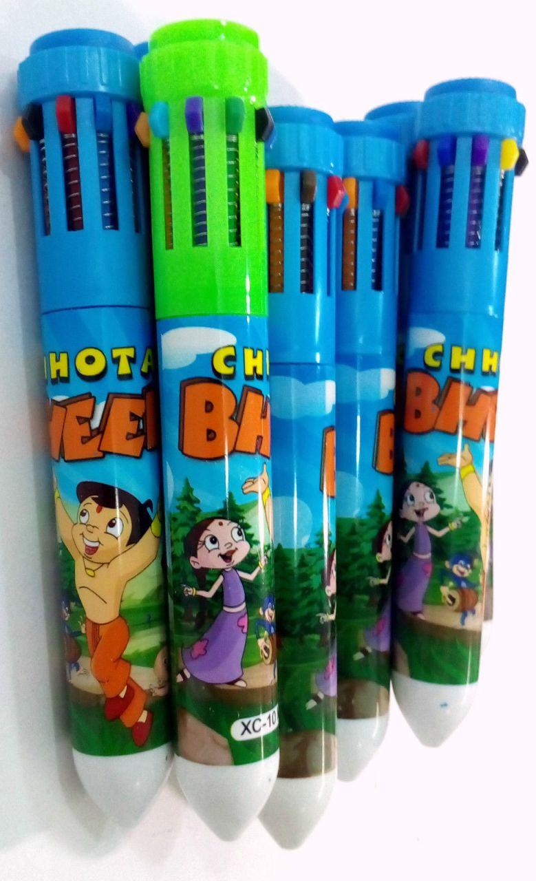 12 PCs C Bheem 10 In 1 Colour Pen For Kids Best Birthday Return Gift359