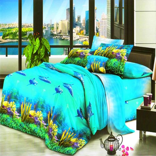 Buy Vertex Industries 3d Polyester Double Bedsheet With 2 Pillow Cover Vibs.1011 online