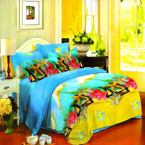 Buy Vertex Industries 3d Polyester Double Bedsheet With 2 Pillow Cover Vibs.1015 online