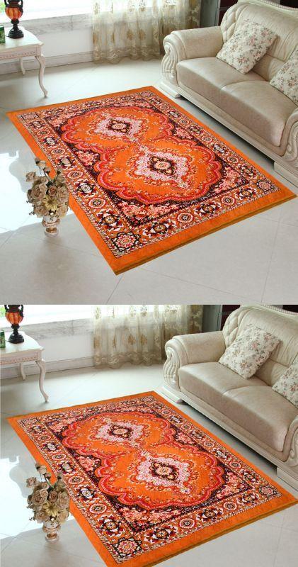 Buy Home Elite Orange Color Traditional Design Jute Filling Sheet Carpet (5 X7 Feet)-rg-ccc-104, Buy 1 Get 1 Free online