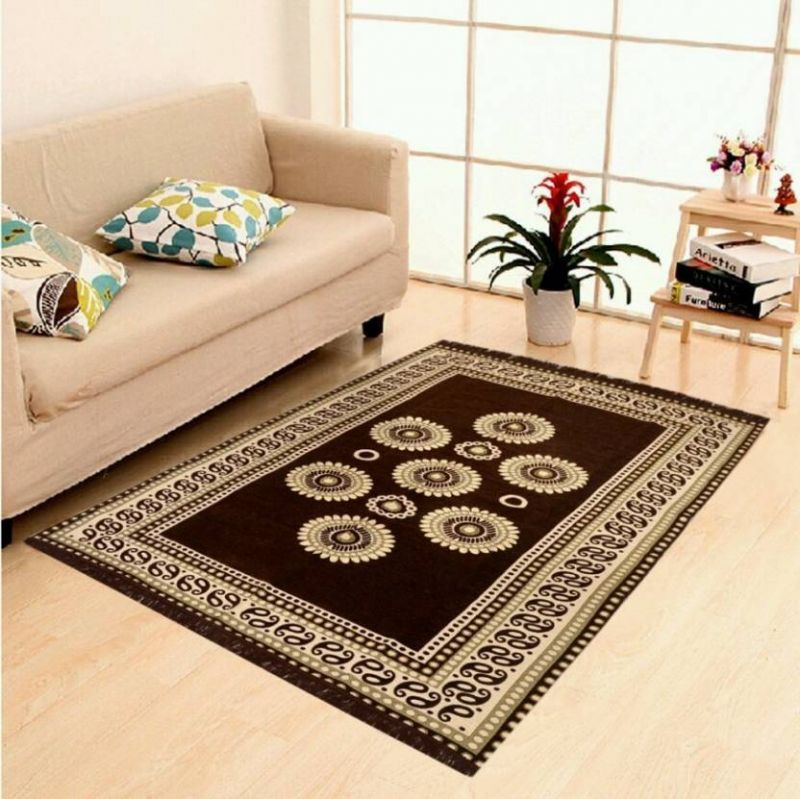 Buy Home Castle Premium Designer Cotton Carpet/durrie (4.5 X 7 Feet) online