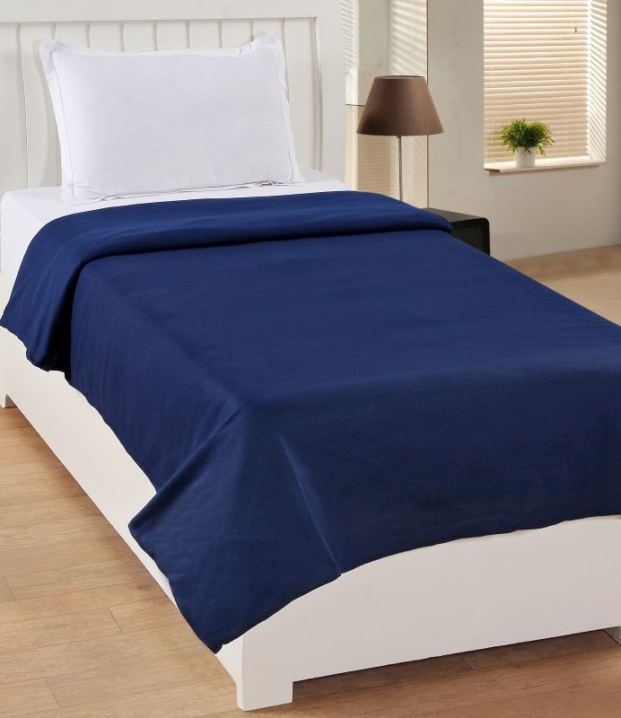 Buy Bsb Trendz Single Blue Polar Fleece Plain Blanket Buy 1 Get 1 online