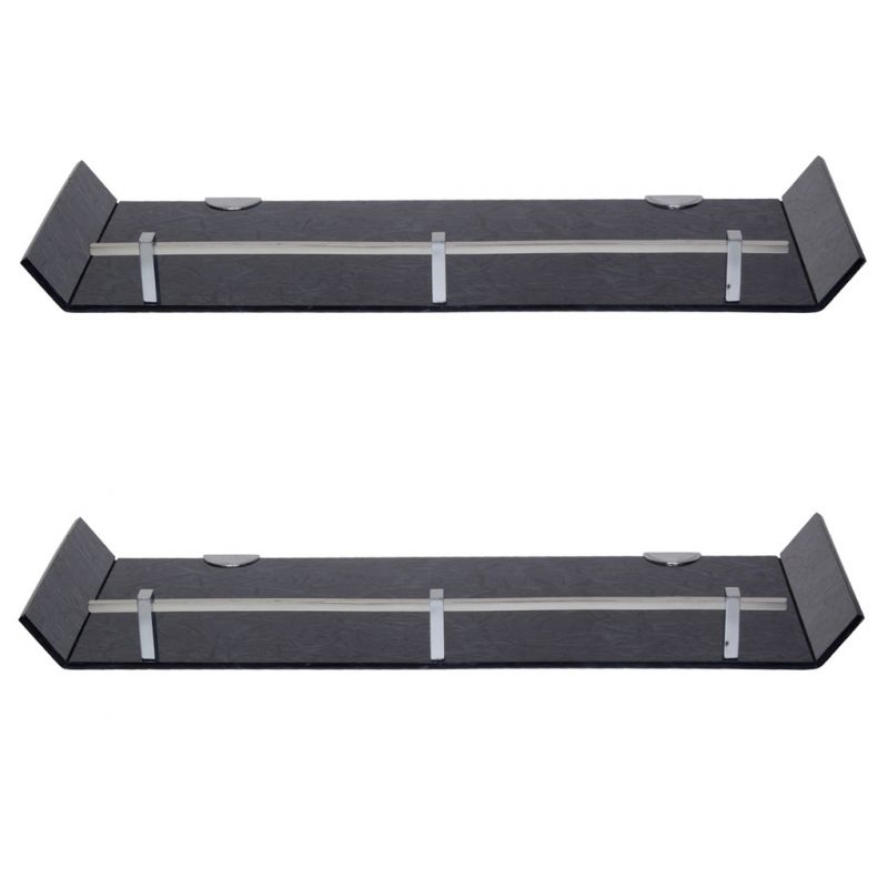 Buy Sagar 18x6 Inch Black Marble Designed Acrylic Wall Shelf - Combo Of 2 online