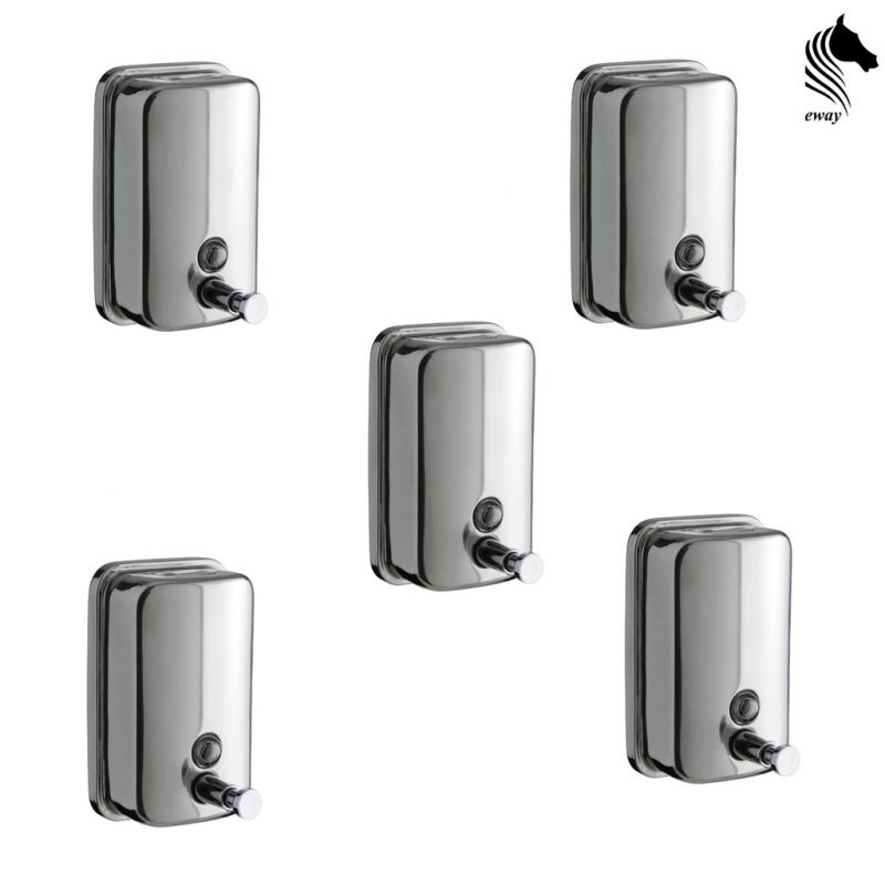 Buy Horseway Stainless Steel Soap Dispenser - 500ml - Set Of 5 online
