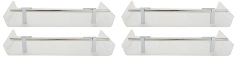Buy Horseway White Color Marble Designed Acrylic Wall Shelf - 12x5 Inch - Set Of 4 online