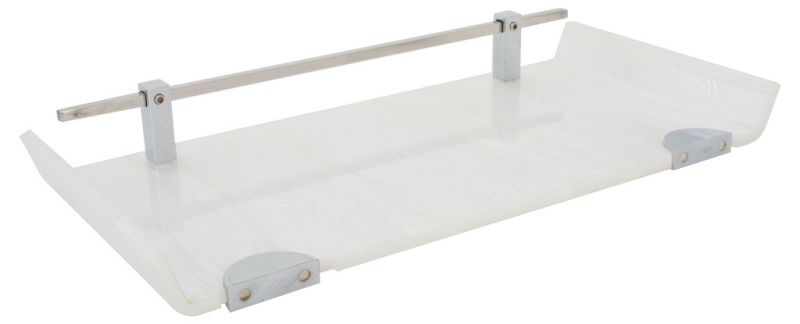 Buy Horseway White Color Marble Designed Acrylic Wall Shelf - 12x5 Inch online
