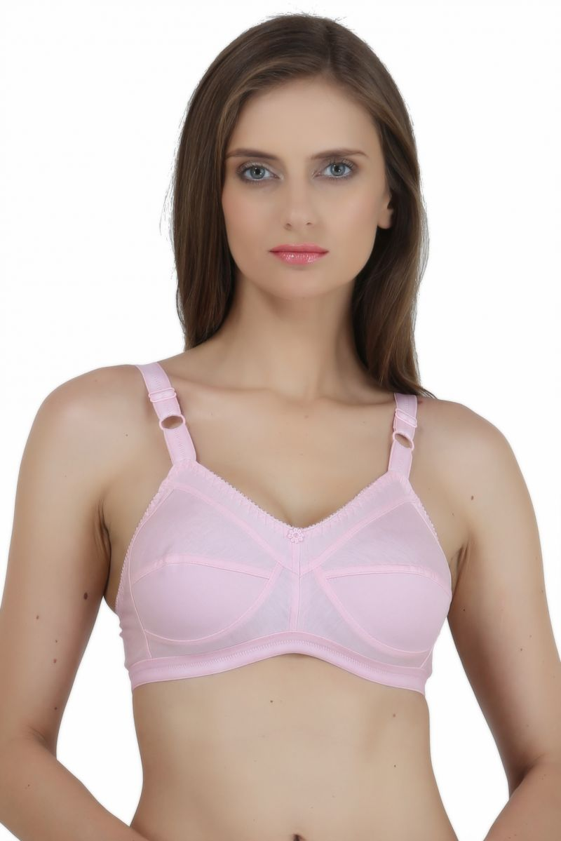 Buy Maxxone Dream Full Coverage Non Padded Pink Cotton Bra_mx001016040 online
