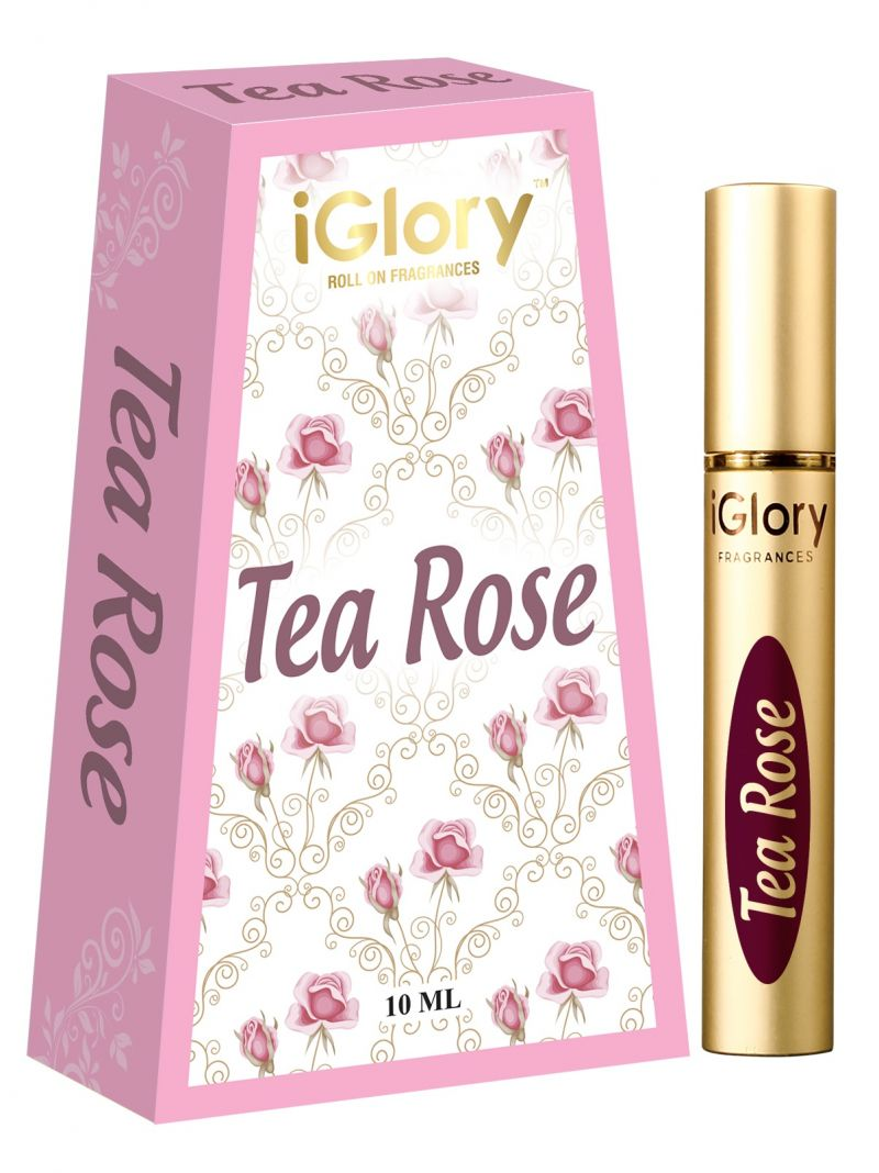 Buy Iglory Roll On Fragrances' Alcohol Free Pure Scents - Tea Rose - 10ml online