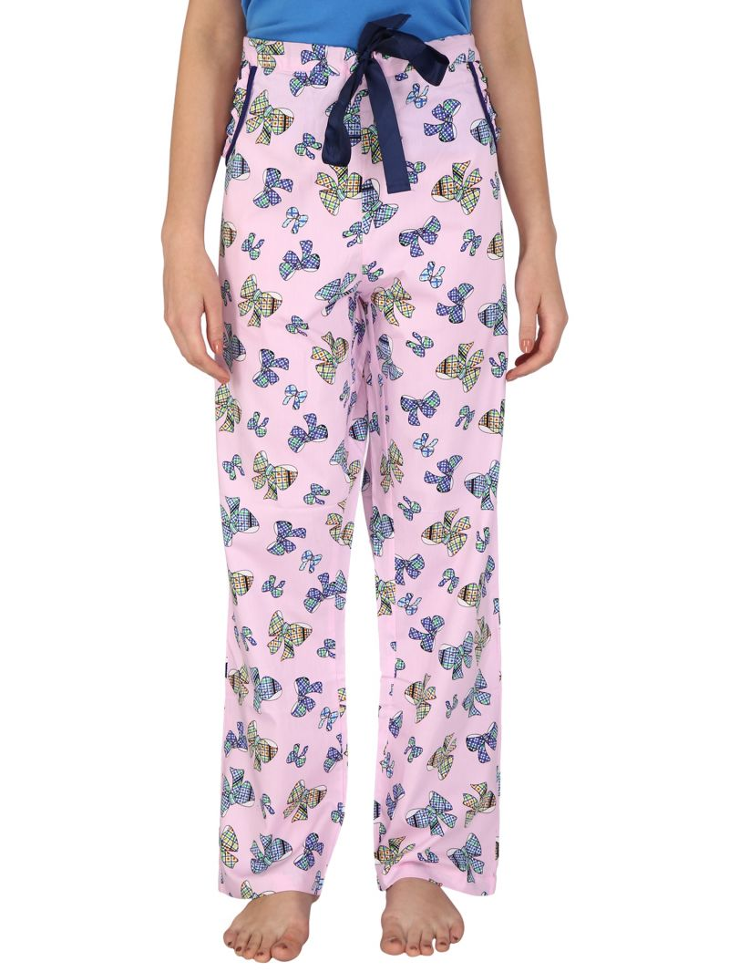 Buy Silkys' Printed Regular Fit Cotton Pyjama For Women online