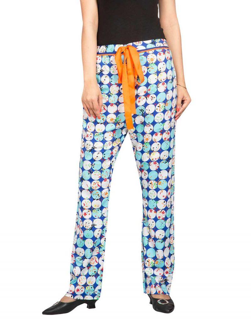 Buy Silkys' Printed Regular Fit Cotton Pyjama For Women online