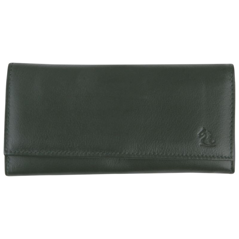 Buy Kara Olive Color Leather Wallet For Women online
