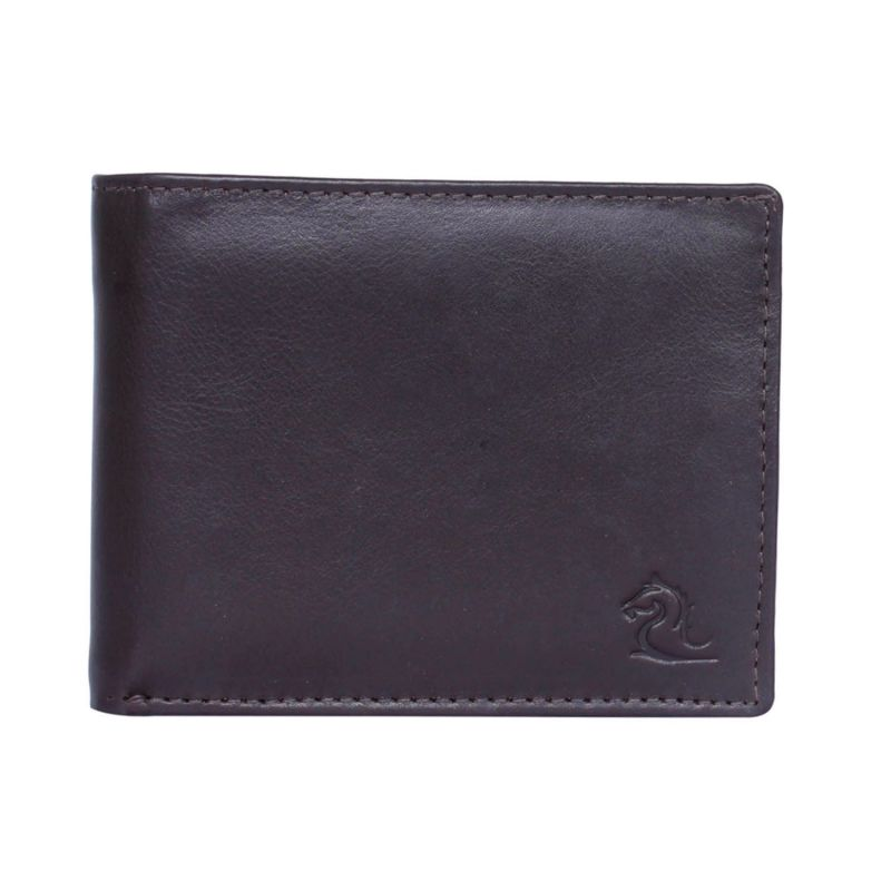 Buy Kara Brown Color Leather Two Fold Wallet For Men online