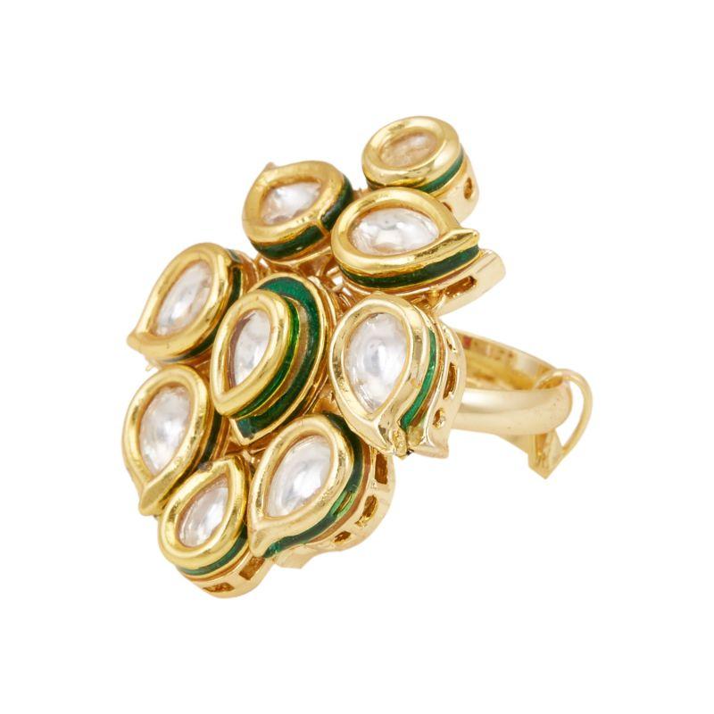 Buy Tipsyfly Modern Tradition Ethnic Ring For Women-1006r online