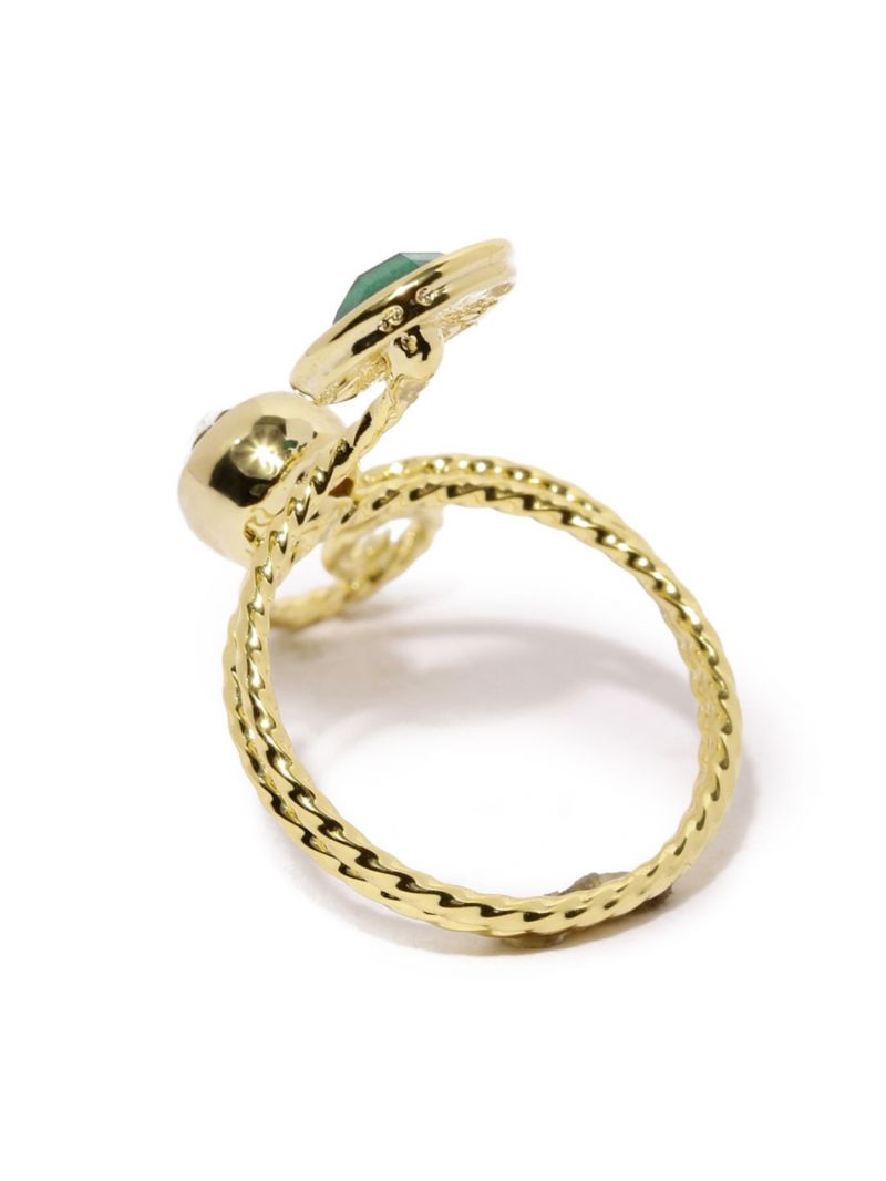 Buy Tipsyfly Western Emerald Swirl Ring For Women-114r online