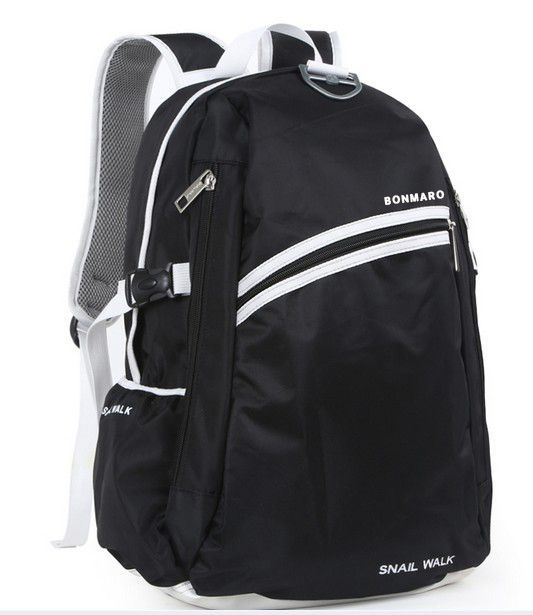 Bonmaro Snail Walk Black School College Backpack Bag Online