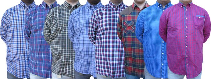 Buy Tangy Pack Of 8 Assorted Checks Shirts online