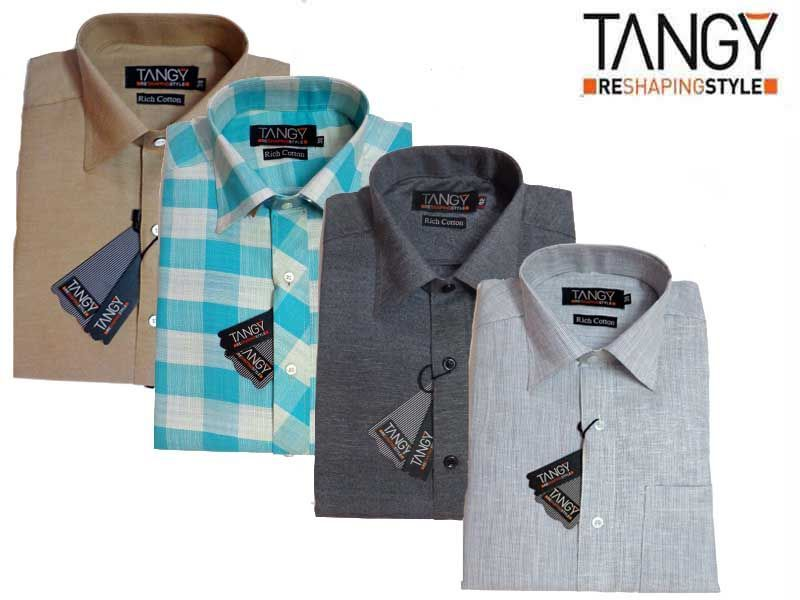 Buy Tangy Combo Pack Of 4 Full Slim Fit Shirt online