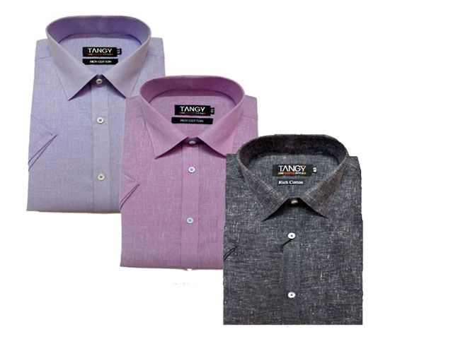 Buy Tangy Pack Of 3 Half Regular Fit Shirts online