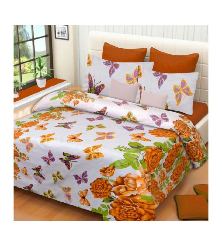 Buy Syk 100% Cotton Double Bed Sheet, Bedsheets With 2 Pillow Covers online
