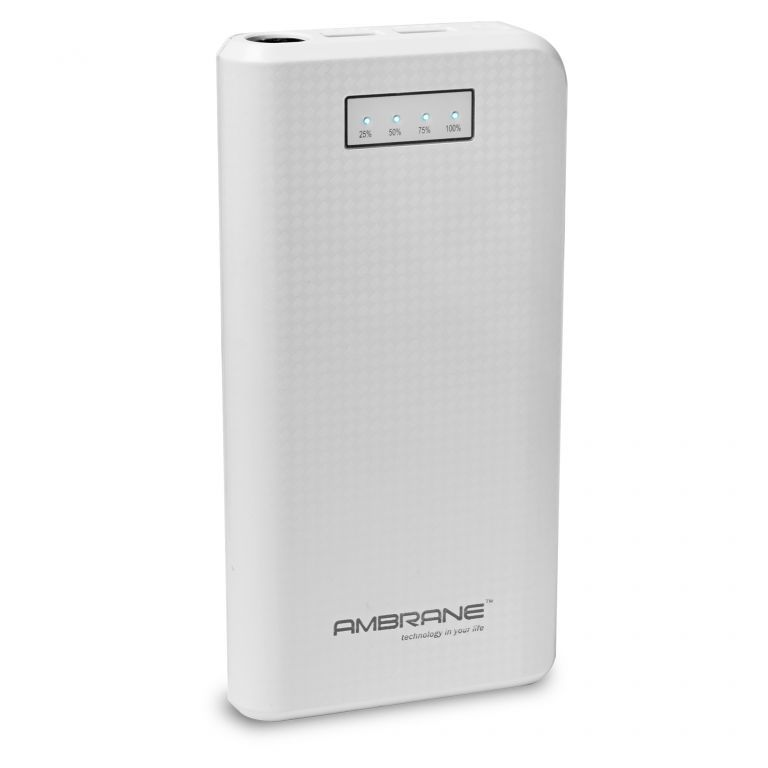Buy Ambrane P-1640 16000mah Power Bank - White online