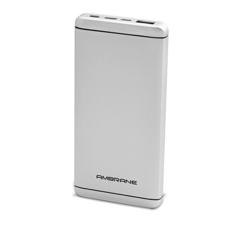 Buy Ambrane Plush Pq-800 8000mah Power Bank Polymer Battery - Silver online