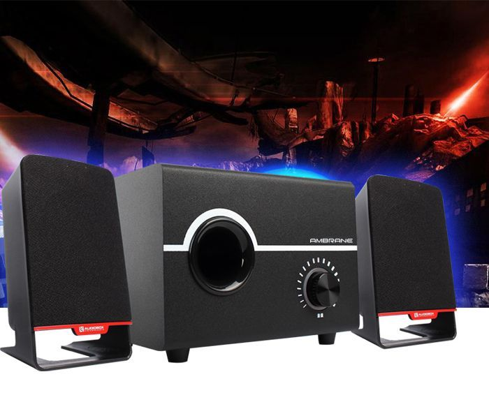 Buy Ambrane Sp-200 Laptop/desktop USB Speaker 2.1 Channel - Black online