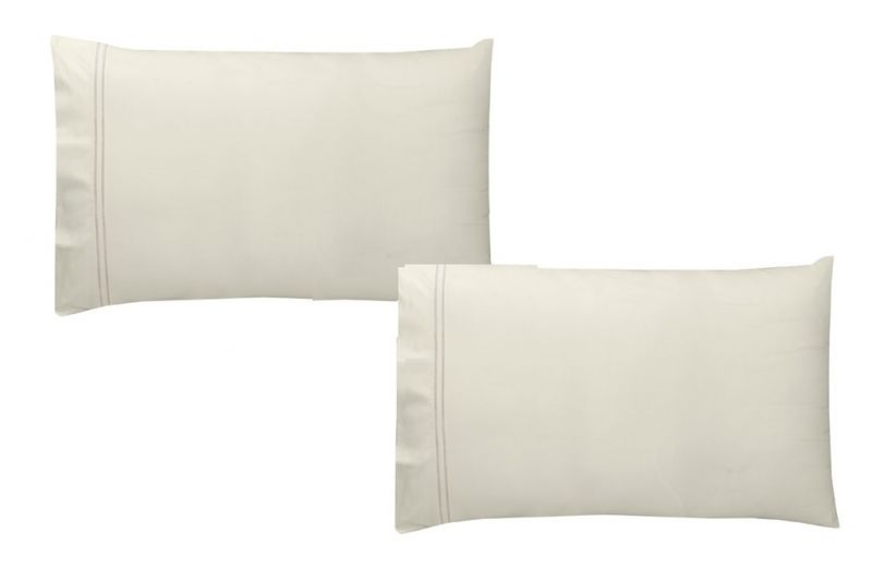 Buy Sferra Pillow Case - King Size100% Egyptian Cotton Ivory Sea Mist online