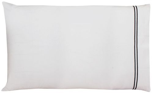 Buy Sferra Pillow Case - King Size 100% Egyptian Cotton Ivory Black online