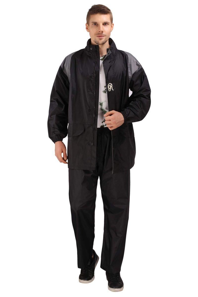 Buy Real Rainwear Black Nylon Lining Raincoat For Men'S online