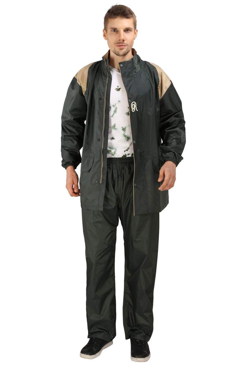 Buy Real Rainwear Green Nylon Lining Raincoat For Men's-rrtrgr online