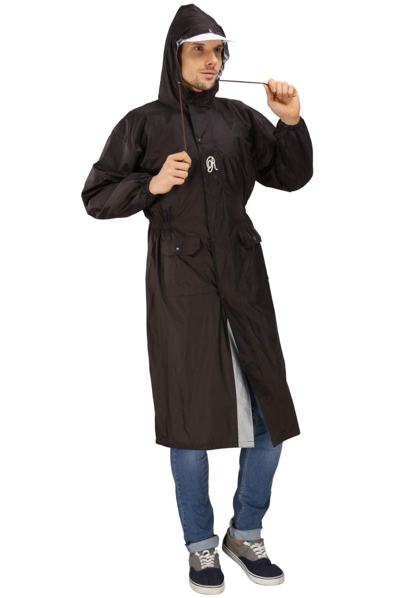 Buy Real Rainwear Nylon And Pvc Solid Scooter Coat For Men online