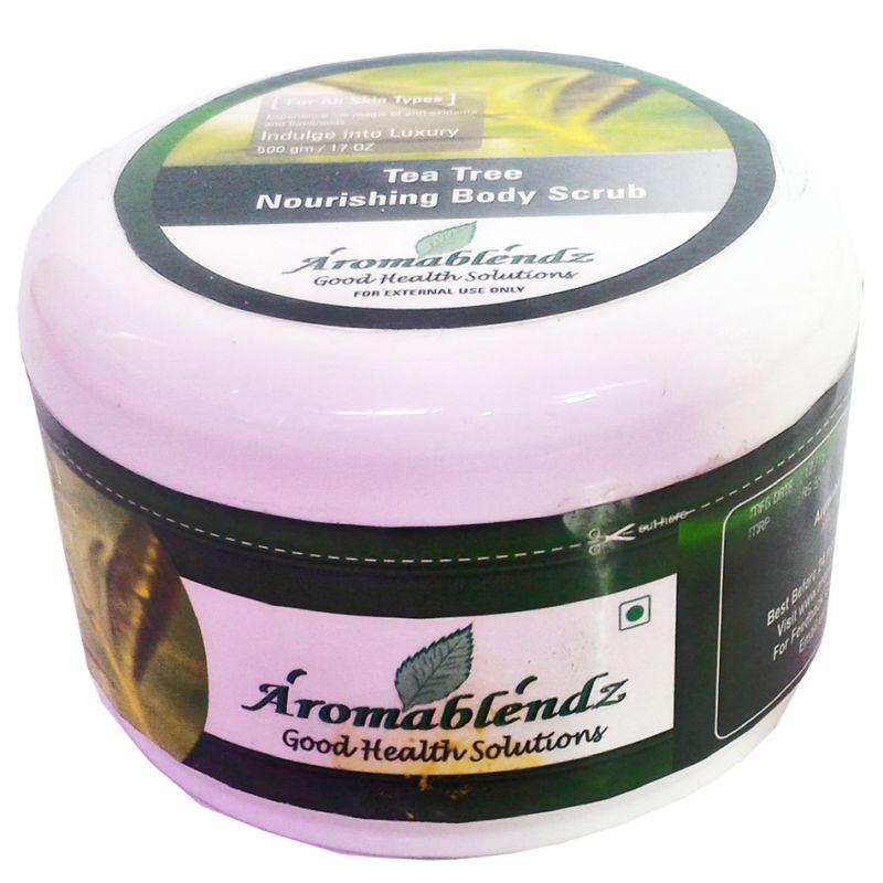 Buy Aromablendz Tea Tree Exfoliating Body Scrub 500 Gm online